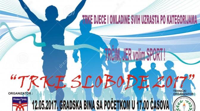 """12.05.2017 god. sa pocetkom u 17h na trgu Mladena Oljace ce se odrzati tradicionalna manifestacija """"TRKE SLOBODE 2017″"""