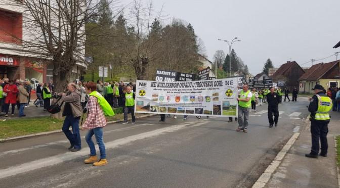 U TOKU SU PROTESTI PROTIV NUKLEARNOG OTPADA